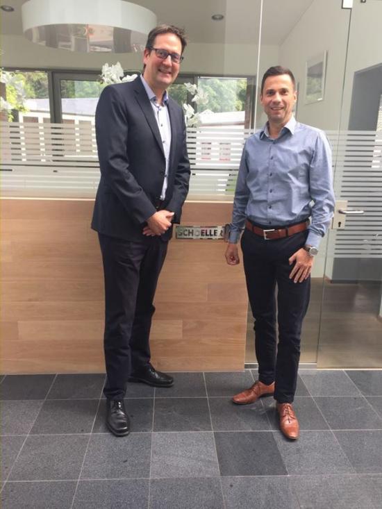 Frank Poschen und Markus Herbrand im Gespräch